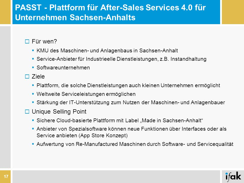 PASST - Plattform für After-Sales Services 4