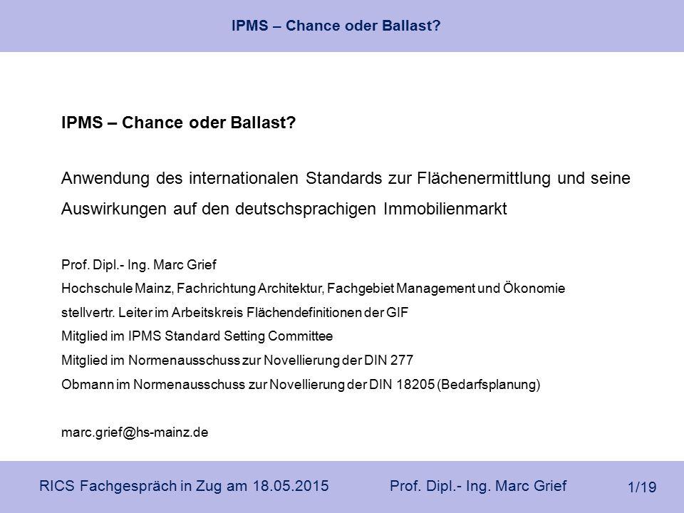 IPMS – Chance oder Ballast