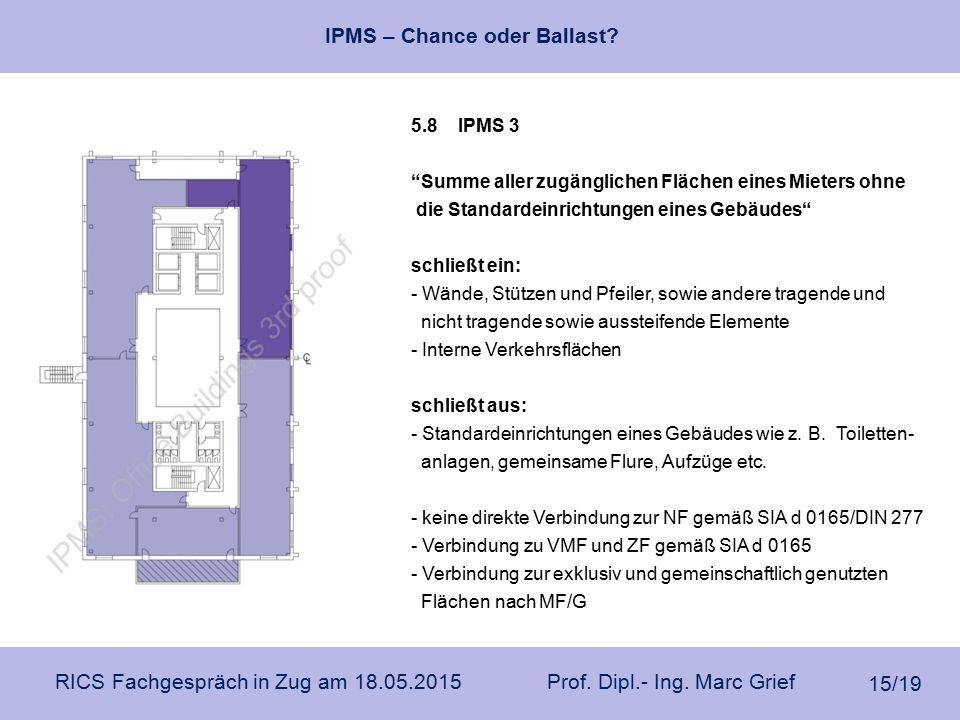5.8 IPMS 3 Summe aller zugänglichen Flächen eines Mieters ohne. die Standardeinrichtungen eines Gebäudes