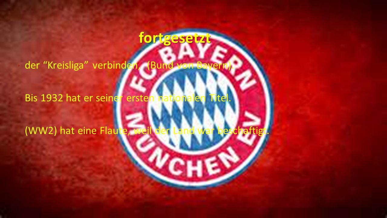 fortgesetzt der Kreisliga verbinden, (Bund von Bayern).
