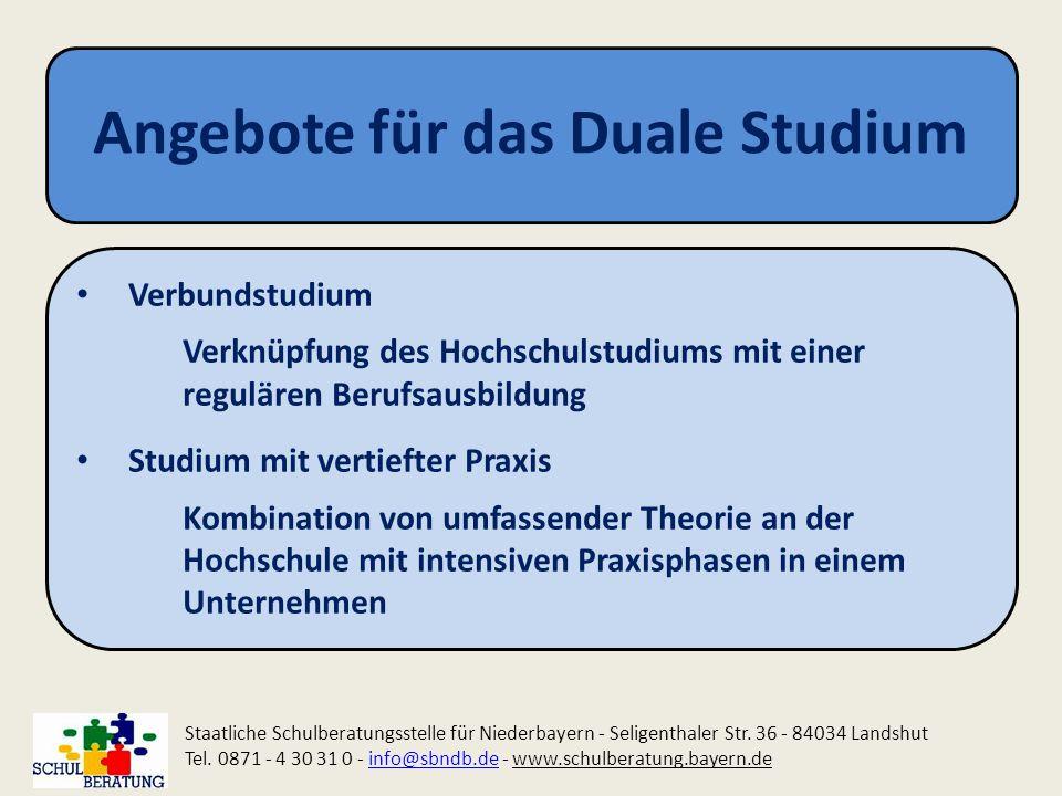 Angebote für das Duale Studium