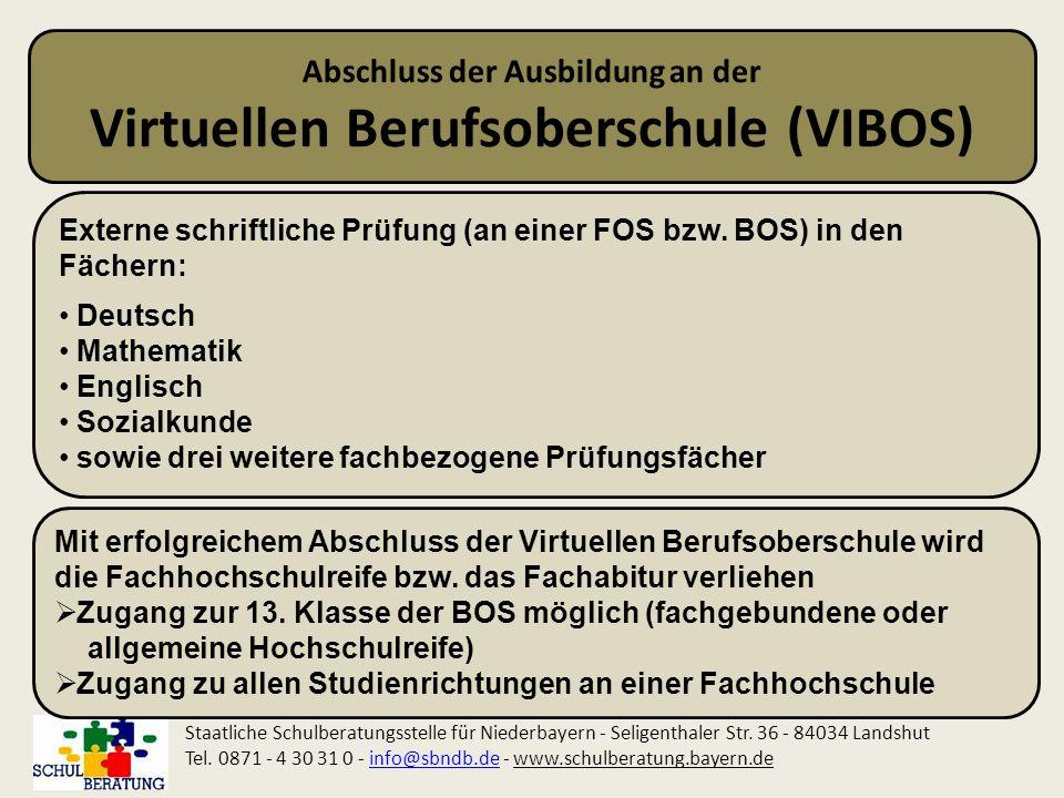 Abschluss der Ausbildung an der Virtuellen Berufsoberschule (VIBOS)