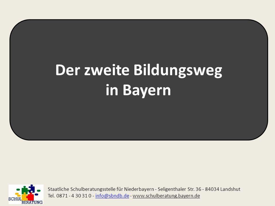 Der zweite Bildungsweg in Bayern