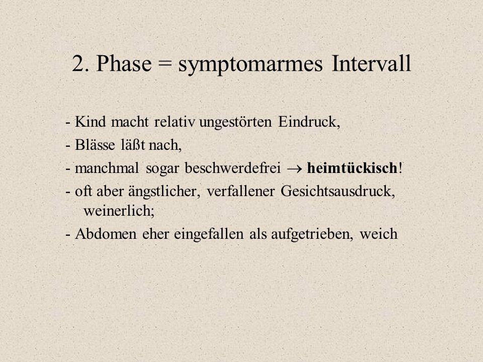 2. Phase = symptomarmes Intervall