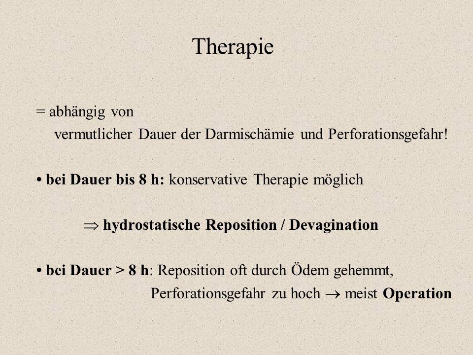 Therapie = abhängig von