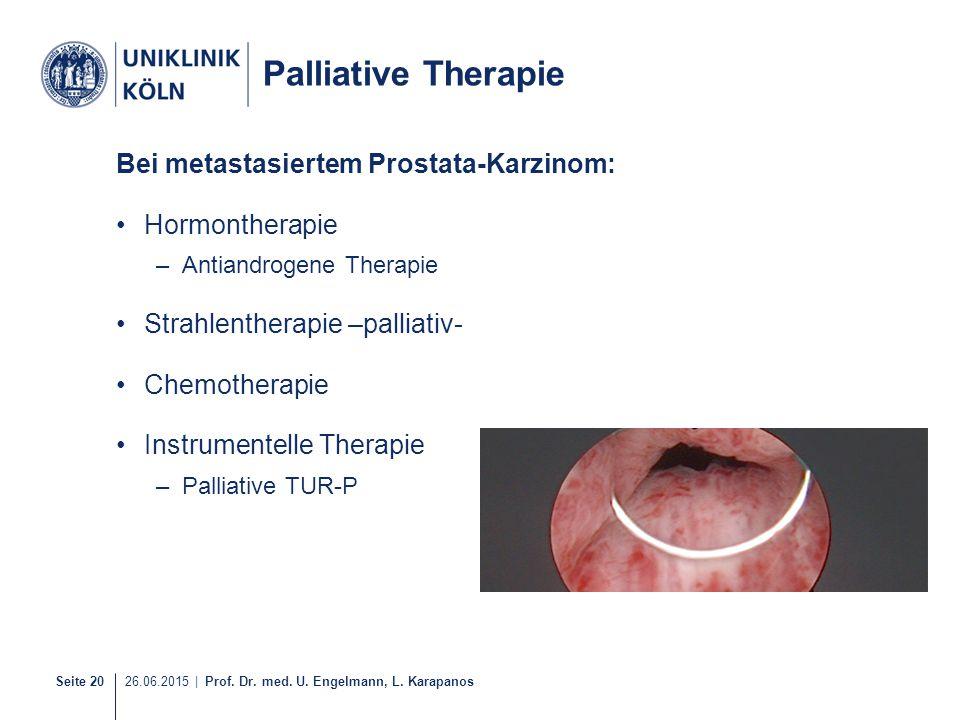 Palliative Therapie Bei metastasiertem Prostata-Karzinom: