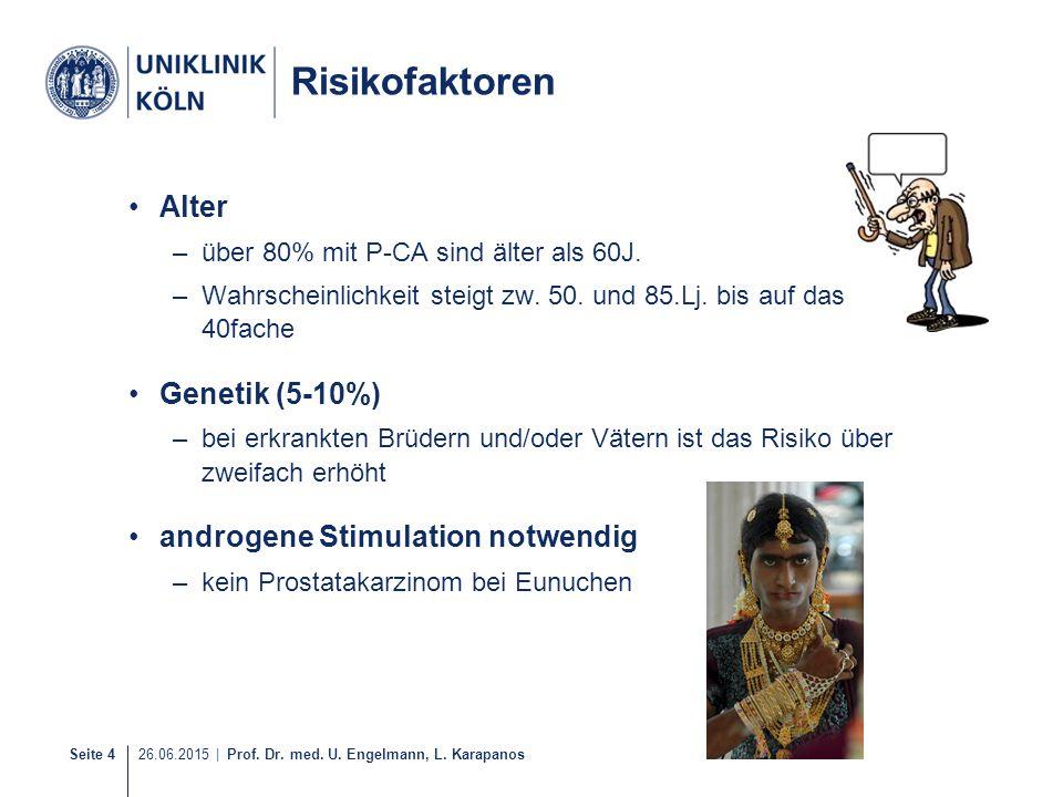 Risikofaktoren Alter Genetik (5-10%) androgene Stimulation notwendig