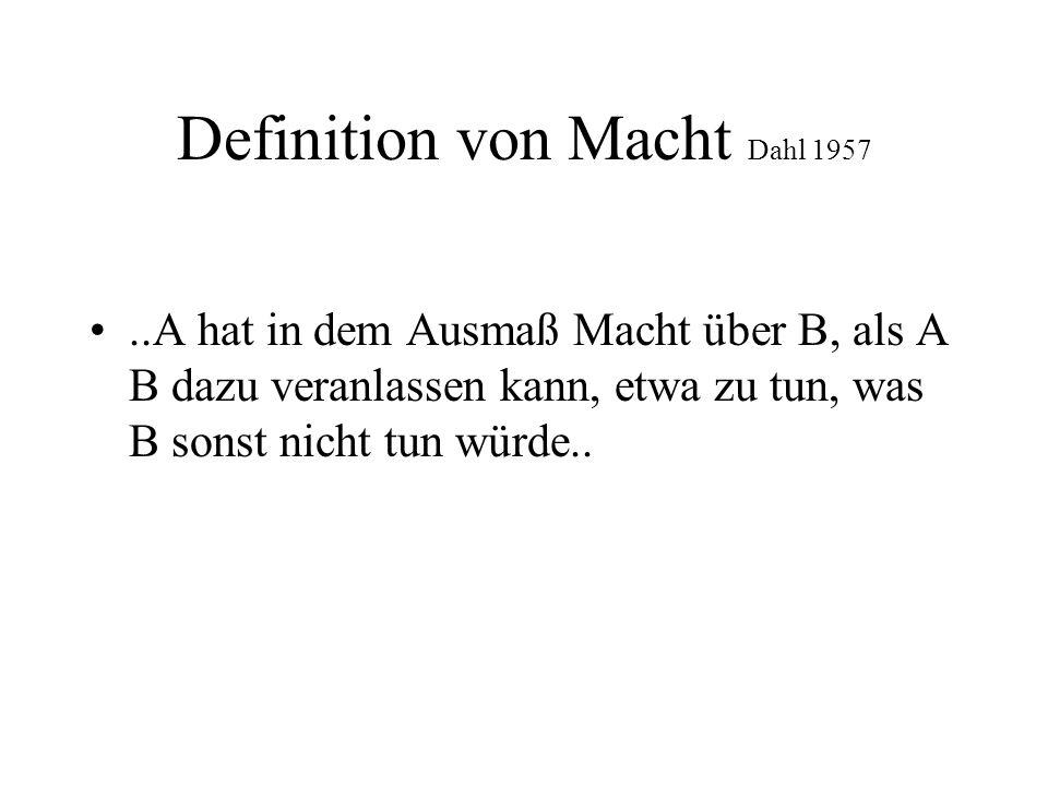 Definition von Macht Dahl 1957