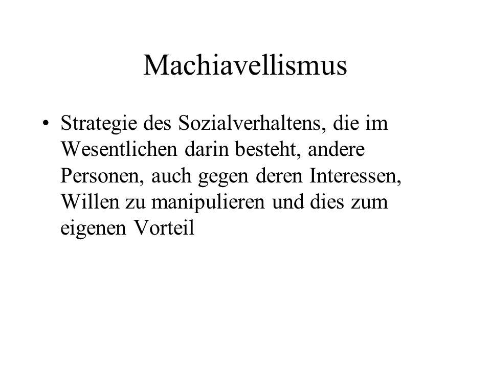 Machiavellismus