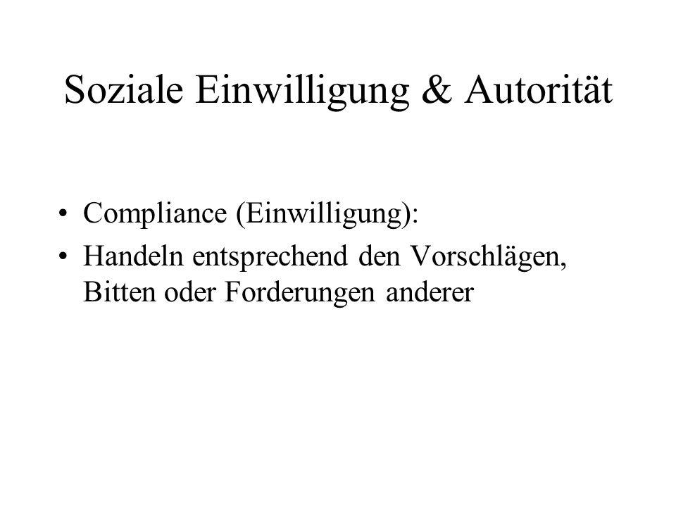 Soziale Einwilligung & Autorität