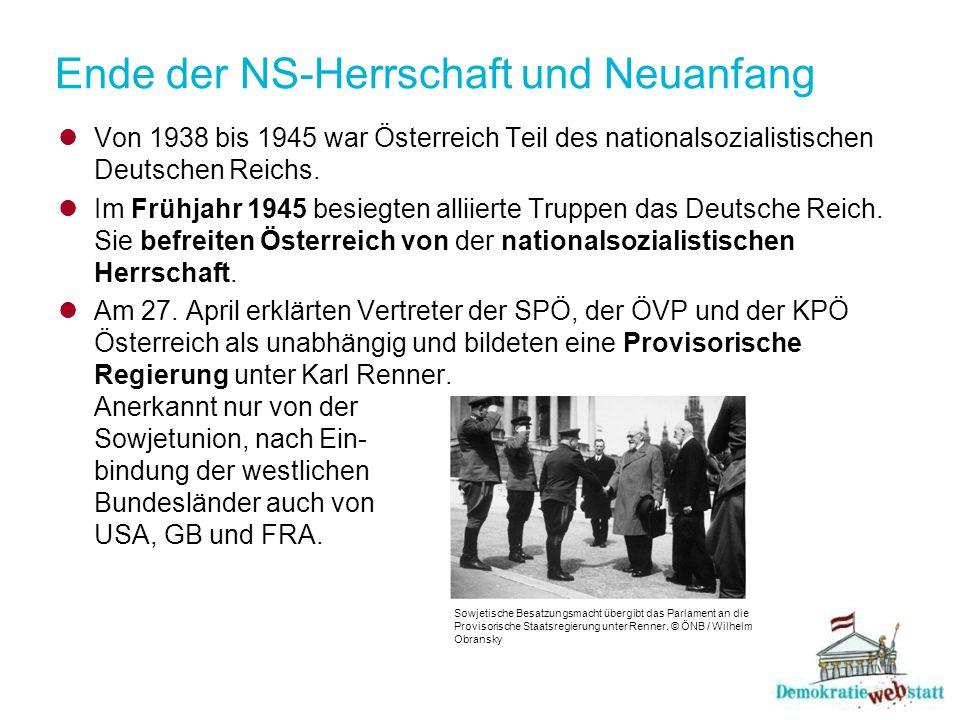Ende der NS-Herrschaft und Neuanfang