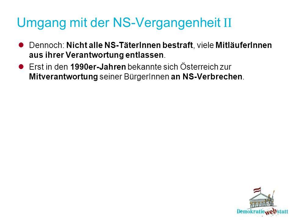 Umgang mit der NS-Vergangenheit II