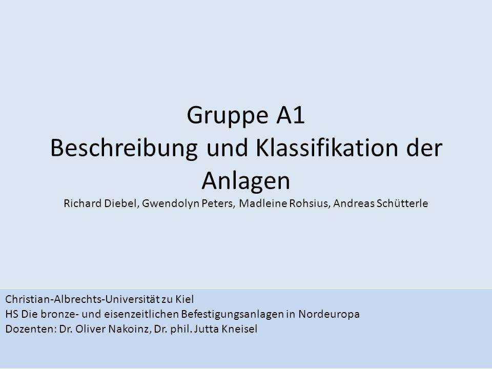 Gruppe A1 Beschreibung und Klassifikation der Anlagen Richard Diebel, Gwendolyn Peters, Madleine Rohsius, Andreas Schütterle