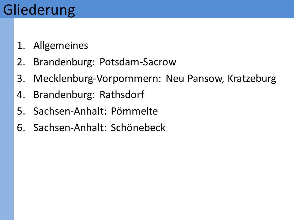 Gliederung Allgemeines Brandenburg: Potsdam-Sacrow