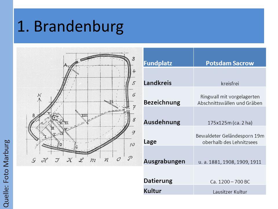 1. Brandenburg Quelle: Foto Marburg Fundplatz Potsdam Sacrow Landkreis