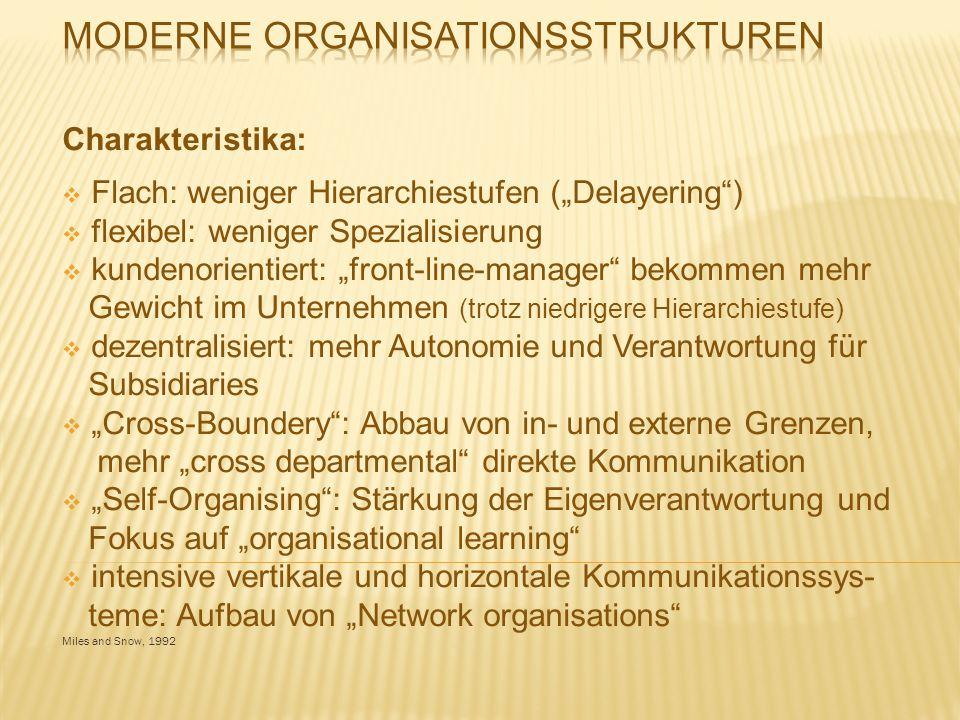 Moderne Organisationsstrukturen