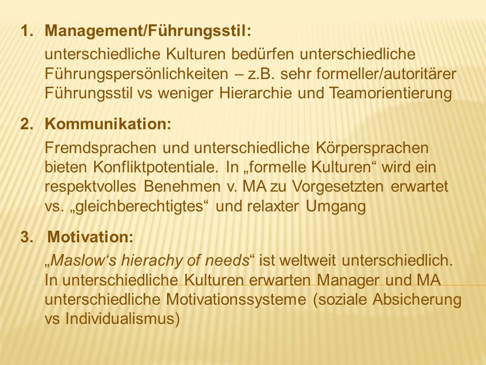 1. Management/Führungsstil: