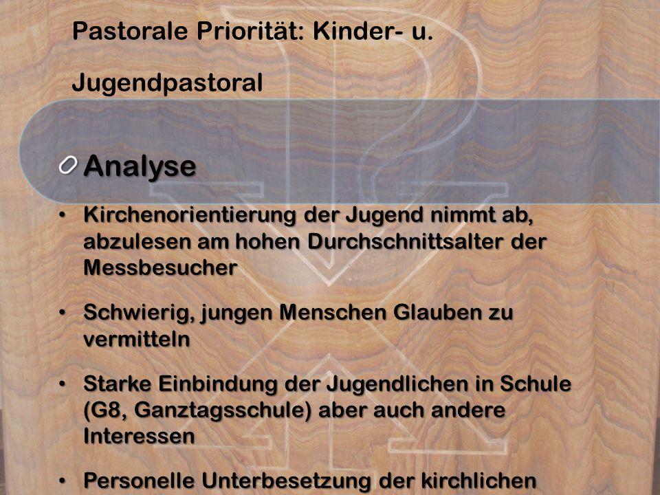 Pastorale Priorität: Kinder- u. Jugendpastoral