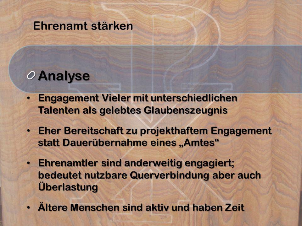 Analyse Ehrenamt stärken