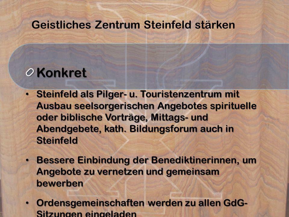 Geistliches Zentrum Steinfeld stärken