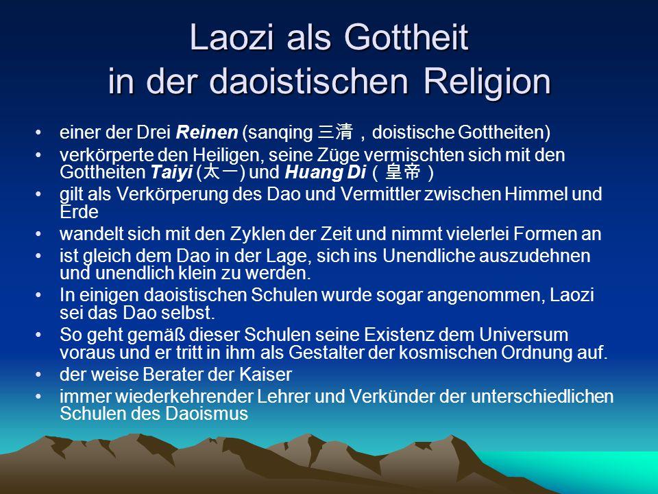 Laozi als Gottheit in der daoistischen Religion