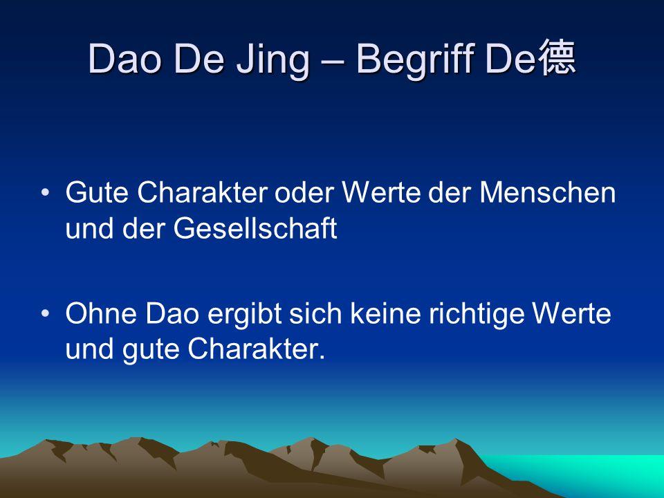 Dao De Jing – Begriff De德