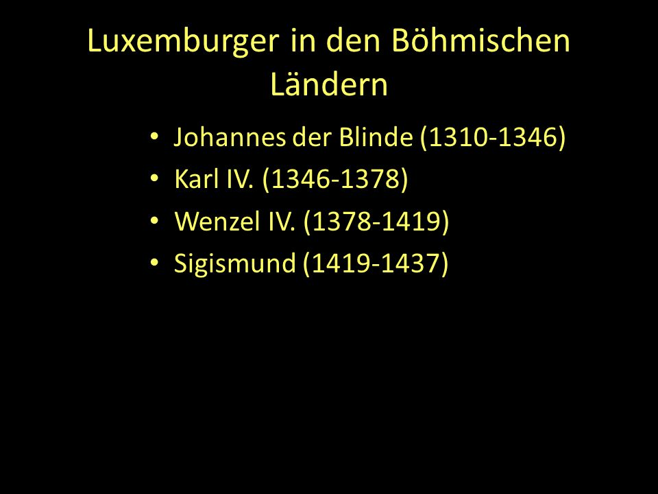 Luxemburger in den Böhmischen Ländern