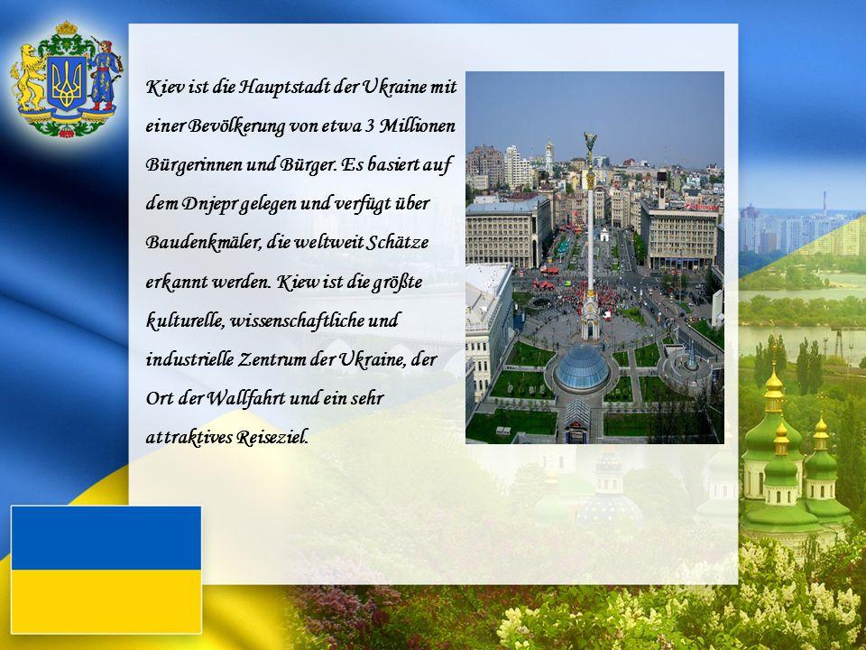Kiev ist die Hauptstadt der Ukraine mit einer Bevölkerung von etwa 3 Millionen Bürgerinnen und Bürger. Es basiert auf dem Dnjepr gelegen und verfügt über Baudenkmäler, die weltweit Schätze erkannt werden. Kiew ist die größte kulturelle, wissenschaftliche und industrielle Zentrum der Ukraine, der Ort der Wallfahrt und ein sehr attraktives Reiseziel.