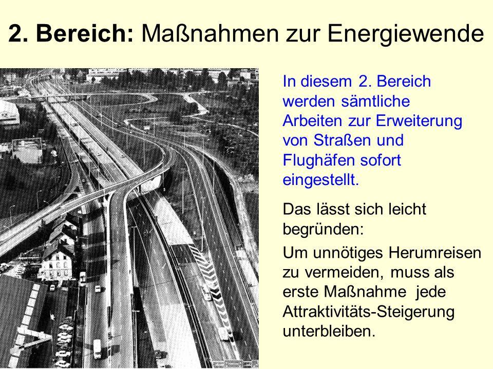 2. Bereich: Maßnahmen zur Energiewende