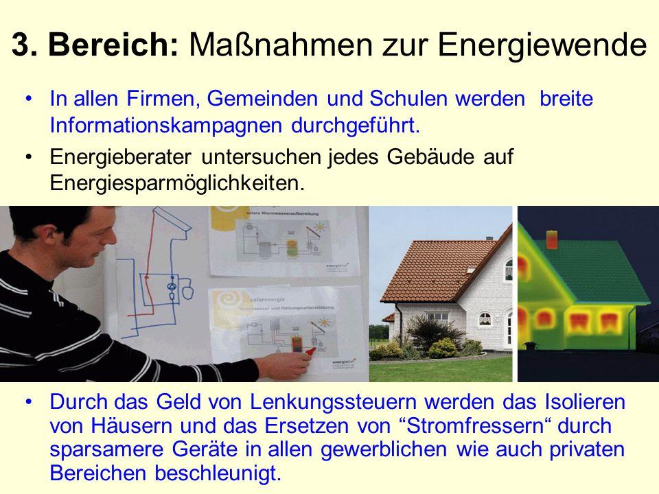 3. Bereich: Maßnahmen zur Energiewende