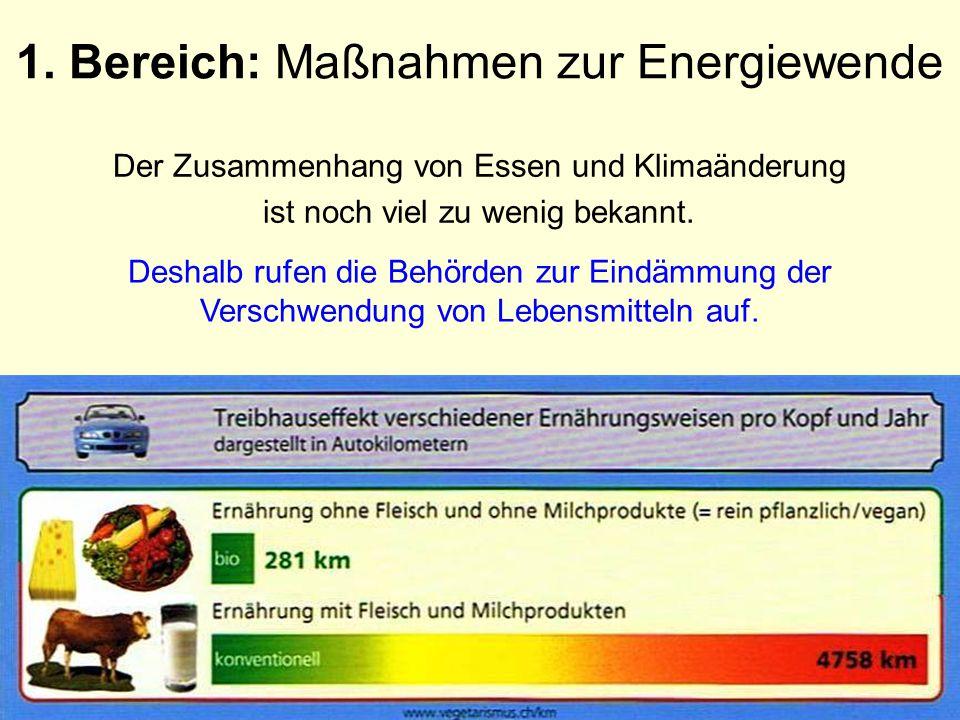 1. Bereich: Maßnahmen zur Energiewende