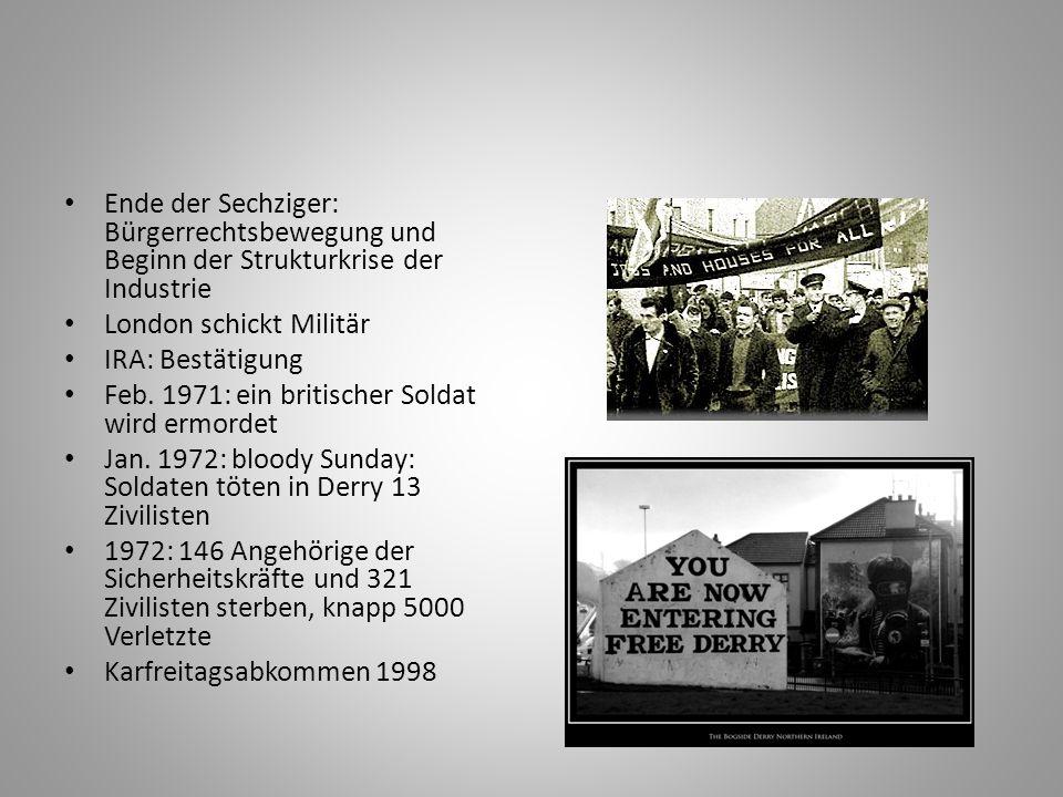 Ende der Sechziger: Bürgerrechtsbewegung und Beginn der Strukturkrise der Industrie