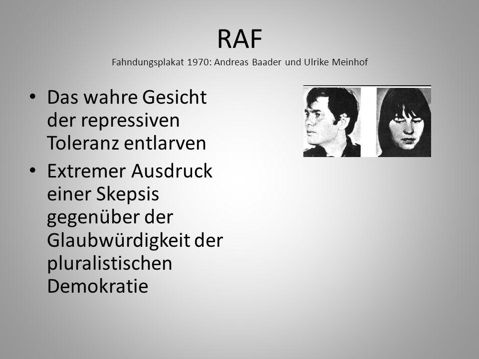 RAF Fahndungsplakat 1970: Andreas Baader und Ulrike Meinhof