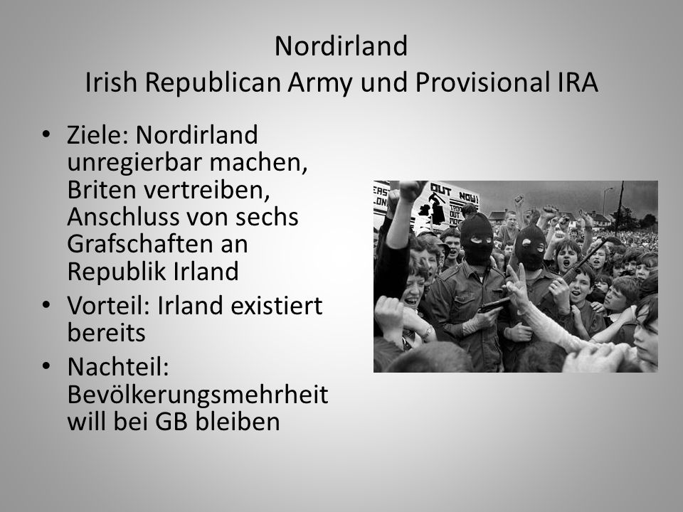 Nordirland Irish Republican Army und Provisional IRA