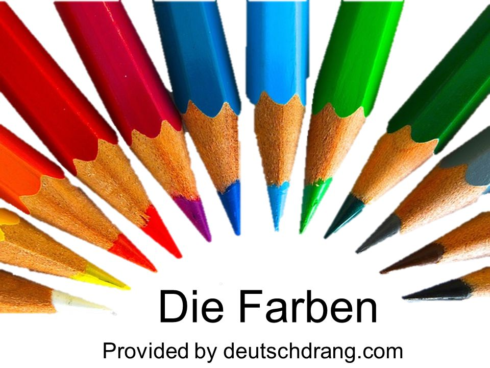 Die Farben Provided by deutschdrang.com