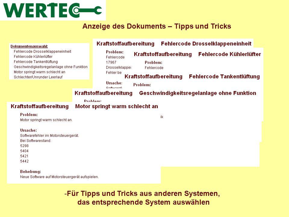 Anzeige des Dokuments – Tipps und Tricks