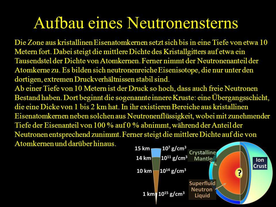 Aufbau eines Neutronensterns