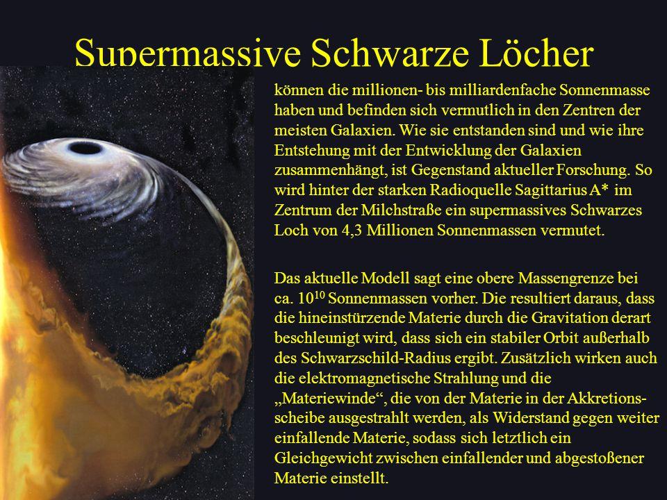 Supermassive Schwarze Löcher