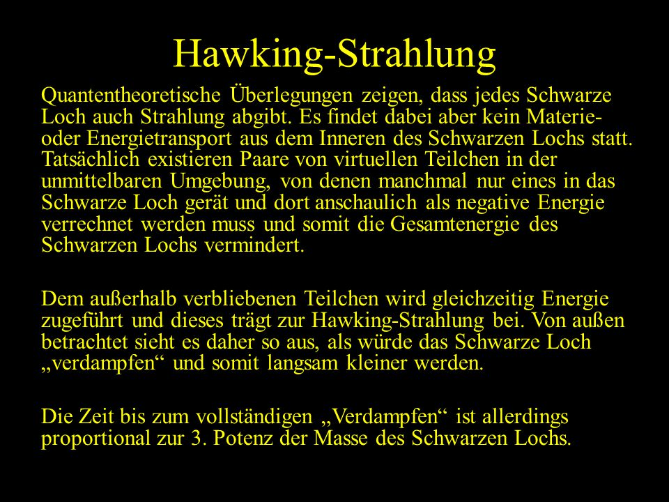 Hawking-Strahlung