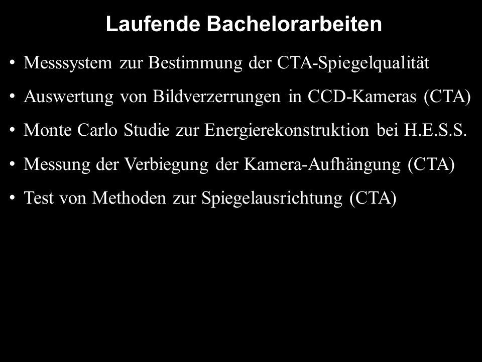 Laufende Bachelorarbeiten