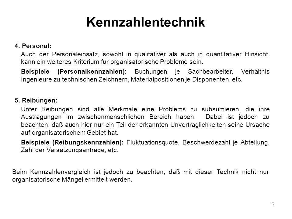 Kennzahlentechnik 4. Personal: