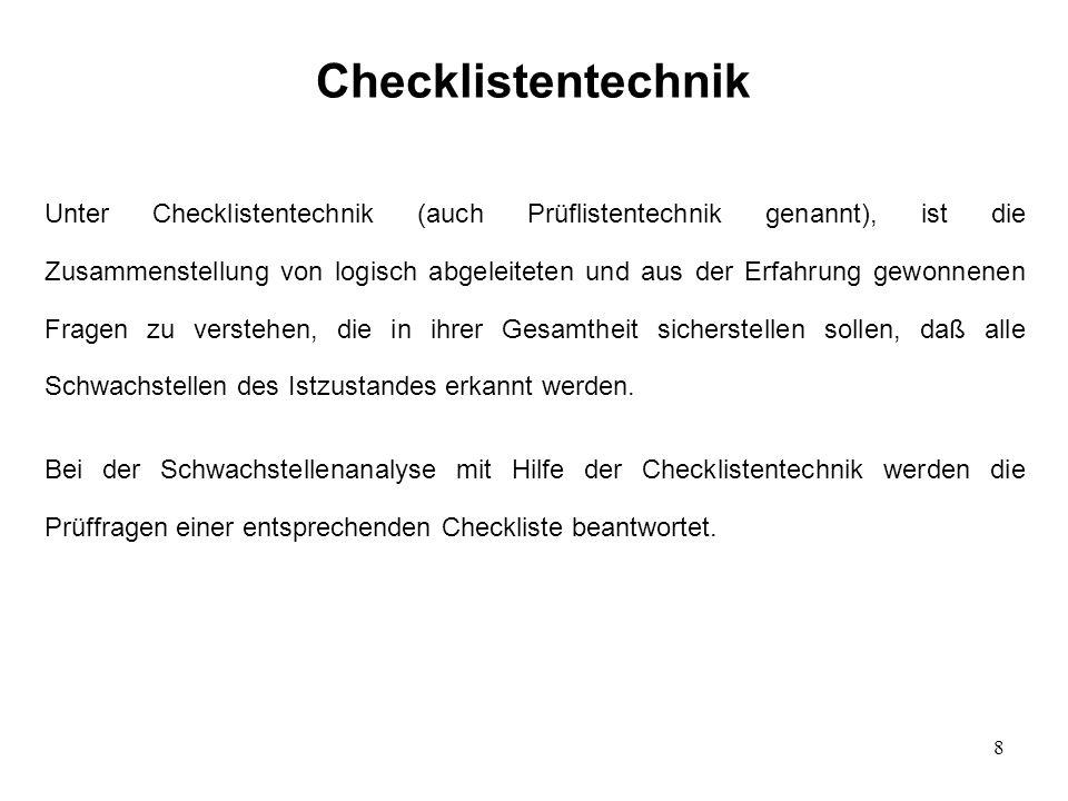Checklistentechnik