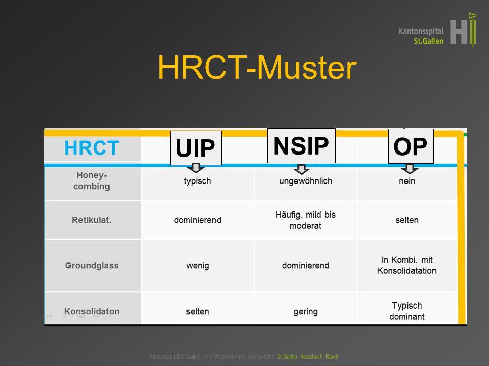 HRCT-Muster UIP NSIP OP