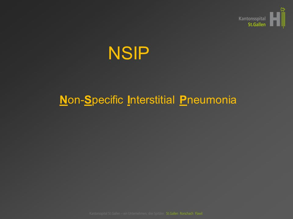Non-Specific Interstitial Pneumonia