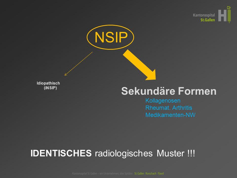 NSIP Sekundäre Formen IDENTISCHES radiologisches Muster !!!