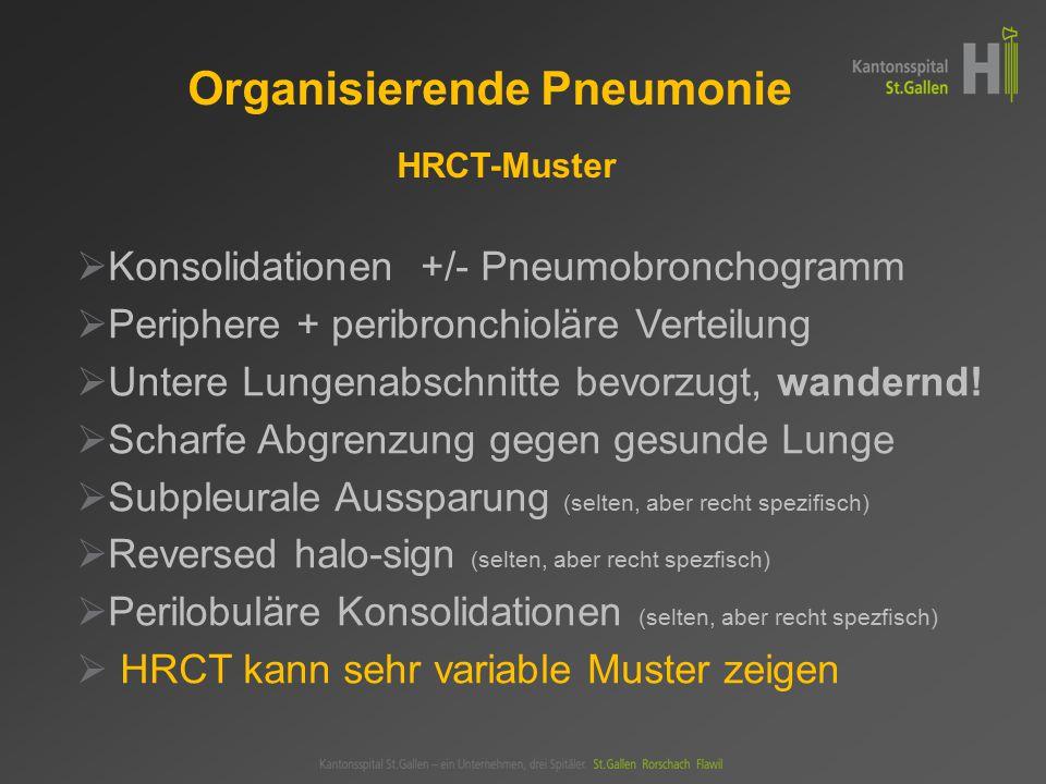 Organisierende Pneumonie HRCT-Muster