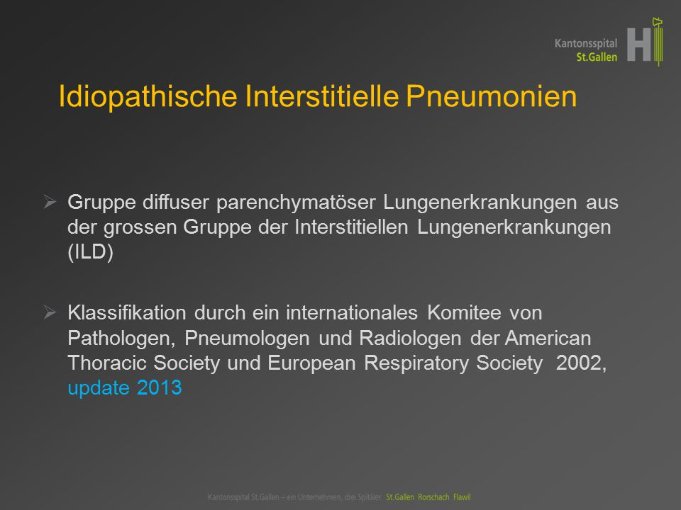 Idiopathische Interstitielle Pneumonien