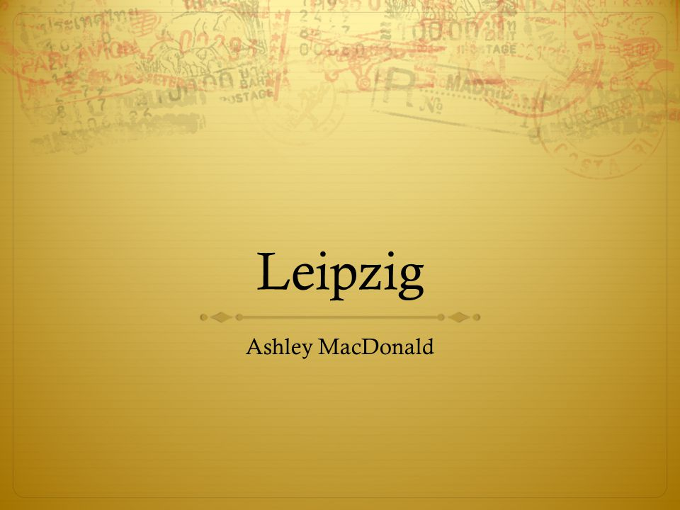Leipzig Ashley MacDonald
