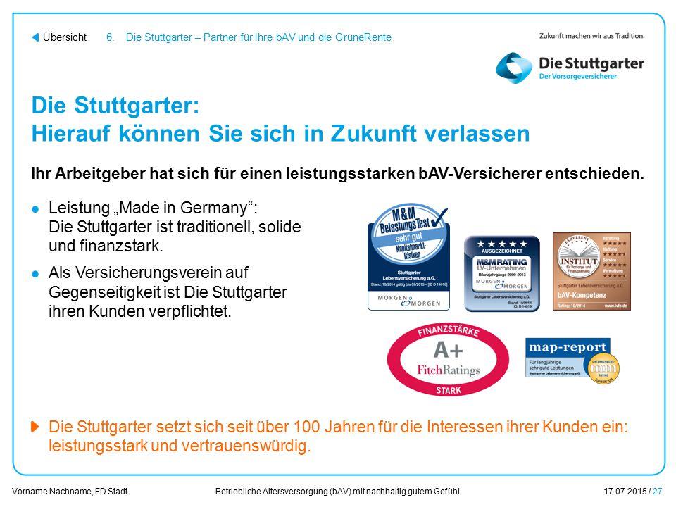 Die Stuttgarter: Hierauf können Sie sich in Zukunft verlassen