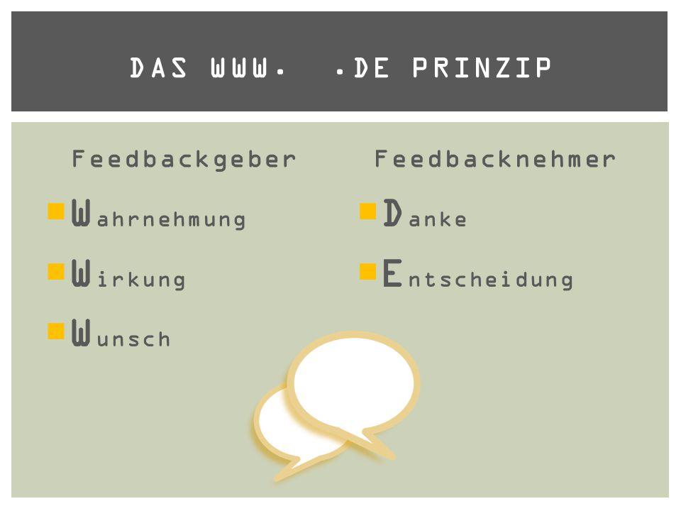 Wahrnehmung Wirkung Wunsch Danke Entscheidung Das www. .de Prinzip